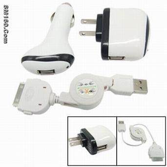 iphone 3in1charger,ipod 3 in1 charger,Mobile charger,USB adappter